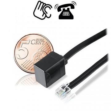 Kleinster Telefonsender der Welt mit Steckverbindung als Abhörgeräte für Telefonüberwachung. Hohe Ausgangsleistung, Reichweiten bis 1000 mtr. Für alle analogen Telefonanschlüsse geeignet.