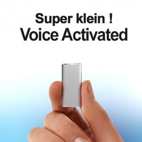 Einer der kleinsten Spionagerecorder der Welt. Klarer Sound durch 3-Core Audioprozessor und HS-Chips. Voice-Activated, Speicherkapazität bis 96 Stunden.