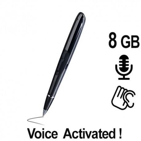 Ein schicker Kugelschreiber als Spionagerecorder zur getarnten Audioüberwachung. Voice-Activated, startet Aufnahmen automatisch. Aufnahmen in HD-Qualität und mit Zeit- und Datumsstempel und Passwortschutz. 8 GB Speicher für 38 Std. Aufnahme.