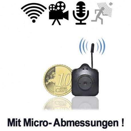 Funk-Kamera im Microformat für diskrete Videoüberwachung. Durch extrem geringe Abmessungen leicht tarnbar. Empfang und Aufzeichnung der Videos auf USB-Stick-Receiver. Bis 300mtr. Reichweite. PC-gestützte Videoüberwachungssoftware inkl.
