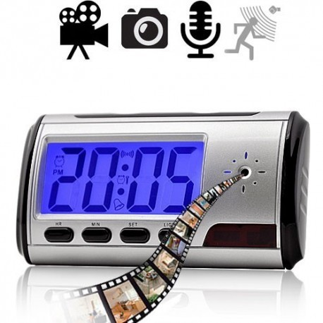 Digitaler Wecker mit einer versteckten Spionagekamera in HD Auflösung mit Ton. Mit Bewegungssensor, Audio- und Videoaufnahmen auch während Ihrer Abwesenheit.
