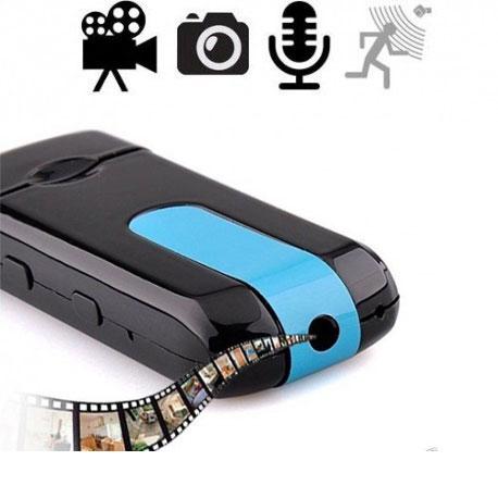 Spionagekamera perfekt getarnt im USB-Stick für verdeckte Videoüberwachung mit Ton. Bewegungsgesteuerte Aufzeichnungsfunktion. Diskret Ihr Umfeld filmen ohne aufzufallen.