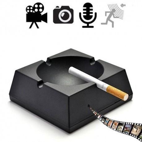 Spionagekamera getarnt im Aschenbecher. Brilliante Video- Bild und Tonaufzeichnungen. Unterstützt Bewegungserkennung. Bedienbar mittels Fernsteuerung.